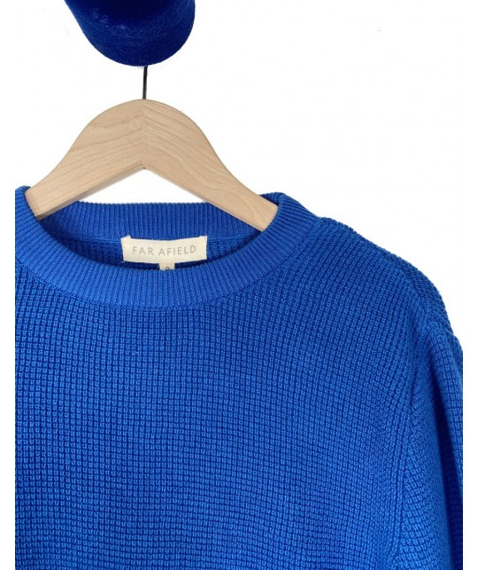 Pull en coton bio bleu FAR AFIELD