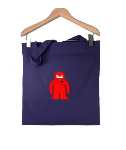 Tote bag brodé marine Lopi Red JBJ