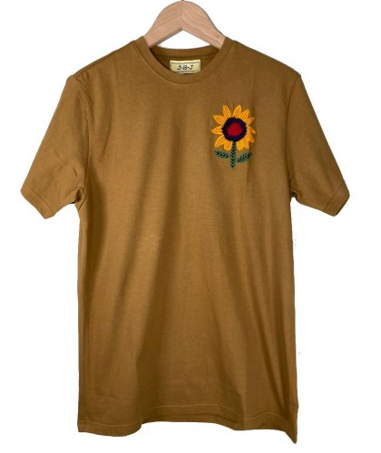 T-shirt brodé Sunflower Marron JBJ