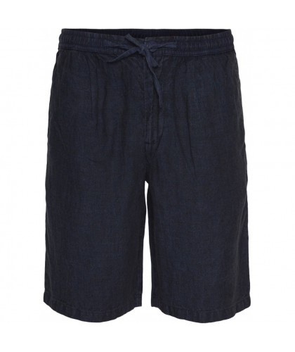 Navy Linen Shorts KNOWLEDGE...