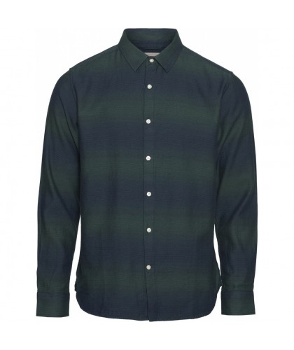 Navy & Green Striped Organic Shirt KNOWLEDGE COTTON APPAREL