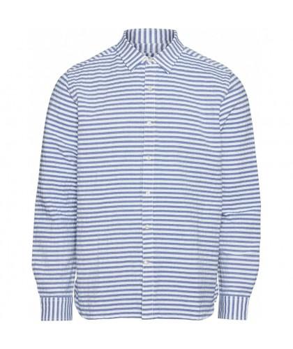 Chemise rayée blanc et bleu...
