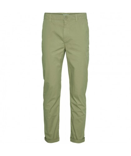 Chino popeline bio Chuck olive KNOWLEDGE COTTON APPAREL