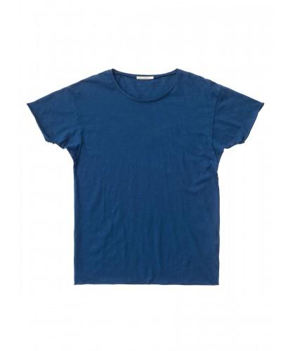 T-shirt bio Roger Slub bleu roi NUDIE JEANS