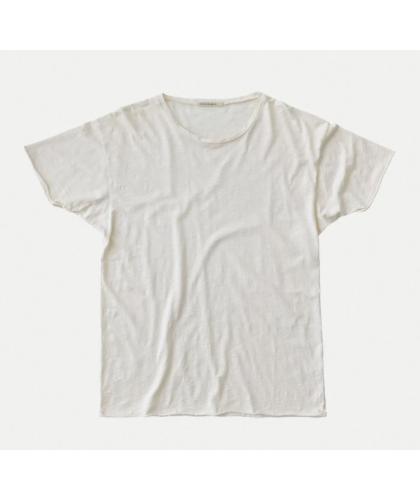 T-shirt bio Roger Slub blanc NUDIE JEANS