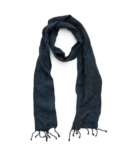 Navy Striped Linen Scarf CORRIDOR