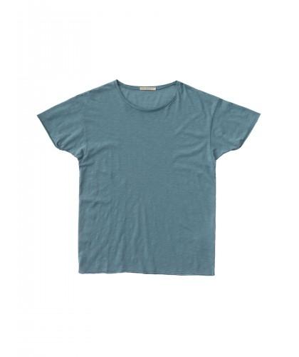 T-shirt bio Roger Slub Petrol Blue NUDIE JEANS