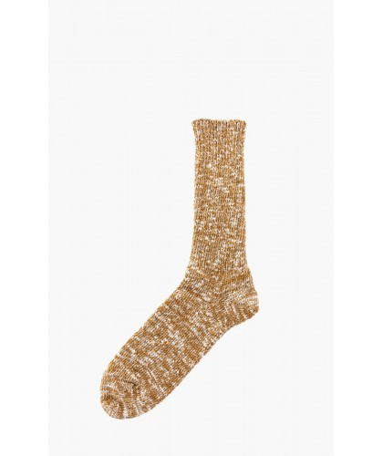 Chaussettes Low Gauge moutarde chiné ROTOTO
