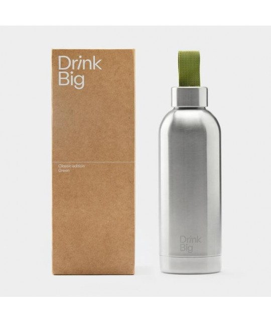 Gourde isotherme Classic Green DRINK BIG