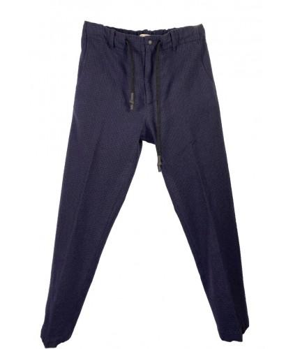Pantalon Coulisse Pied-de-Poule Navy ABCL