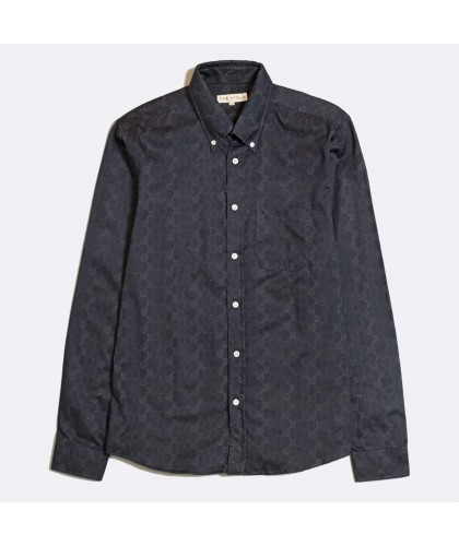 Chemise Anthracite Motif Disques FAR AFIELD
