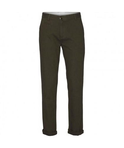 Pantalon Chuck en flanelle gris-vert KNOWLEDGE COTTON APPAREL