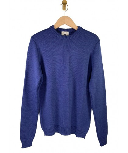 Pull en laine mérino bleu JAGVI