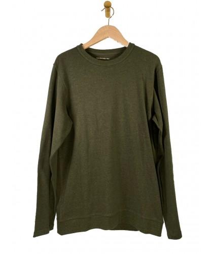 T-shirt ML chanvre et coton bio vert THINKING MU