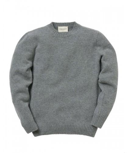 Lambswool Grey Crewneck Sweater COUNTRY OF ORIGIN