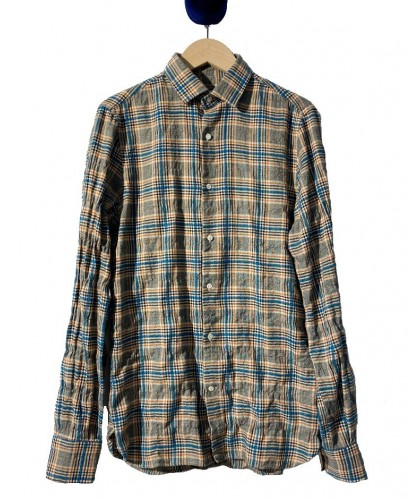 Liberty Turquoise Boucle Check Shirt ABCL