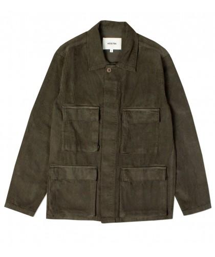 Veste Strathblane 4 poches en velours olive KESTIN