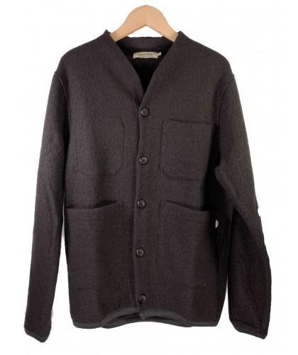 Cardigan en laine noir THINKING MU
