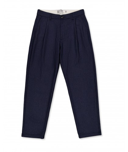 Pantalon à pinces rayé en laine OUTLAND