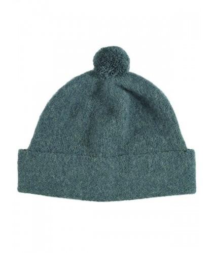 Bonnet bleu-vert à pompon...