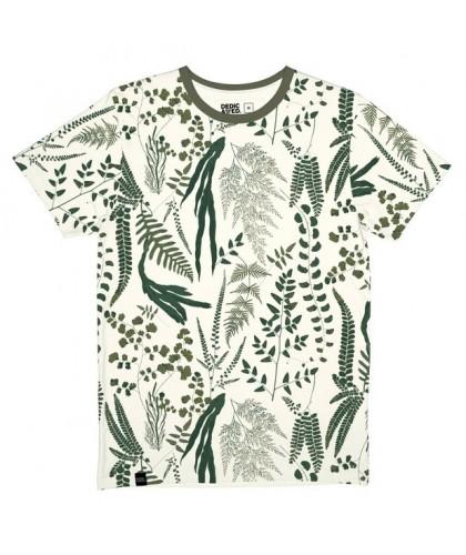 T-shirt bio écru imprimé...