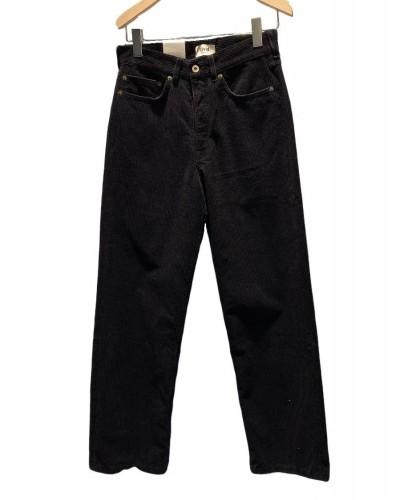 Pantalon Barnes en Velours côtelé noir LIVID
