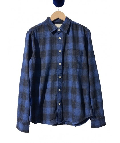 Chemise Indigo Plaid RECYCLED BY DAN