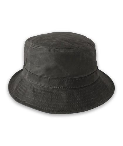 Bob en coton enduit noir CORRIDOR