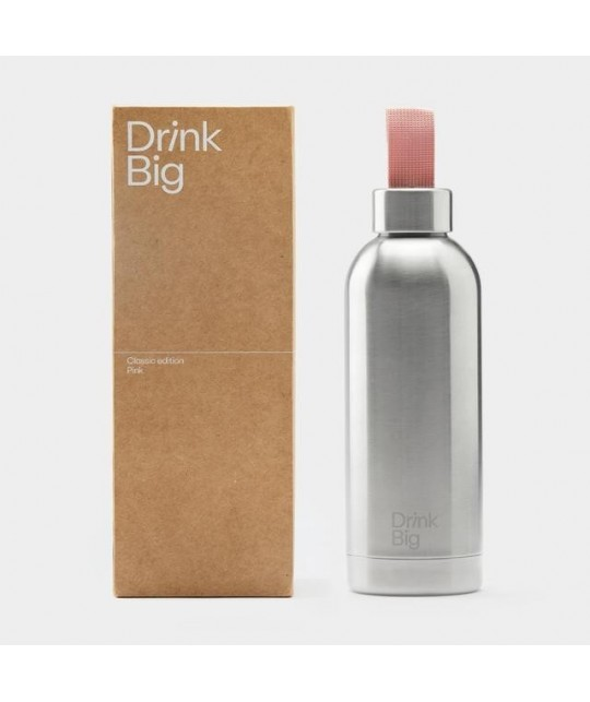 Gourde isotherme Classic Pink DRINK BIG