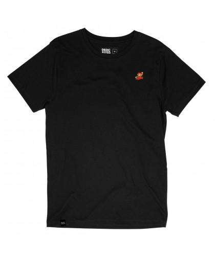 T-shirt noir bio brodé Mario DEDICATED