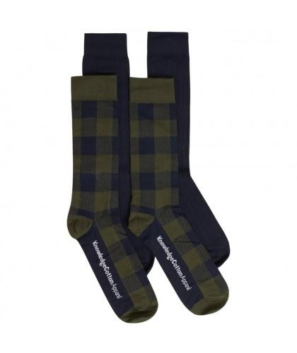 Coffret 4 paires chaussettes tartan bio KNOWLEDGE COTTON APPAREL