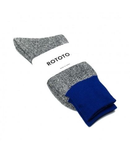 Chaussettes soie coton anthracite et bleu ROTOTO