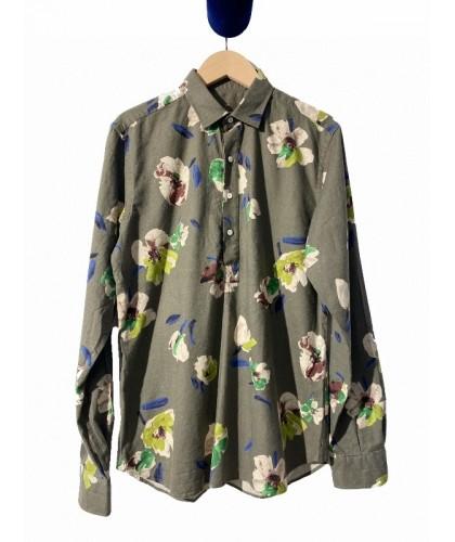 Green Flower Popover Shirt...