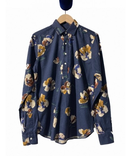 Navy Flower Popover Shirt ABCL