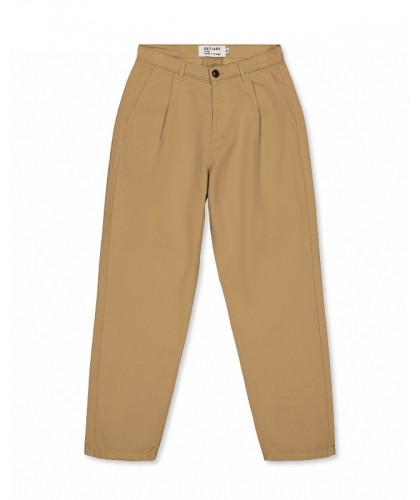 Beige Pleats Pants OUTLAND