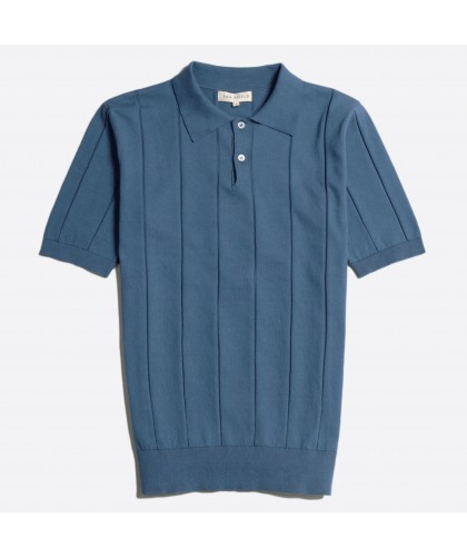 Polo en maille Bleu Denim...