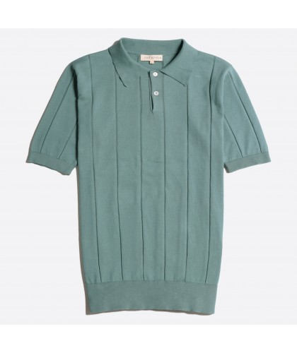 Sage Knitted Polo Shirt FAR...