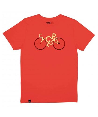 T-shirt bio rouge orangé...