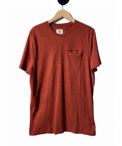T-shirt en coton bio rouge...