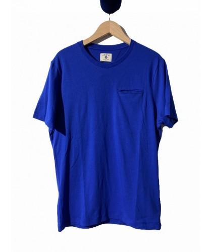 T-shirt en coton bio bleu...