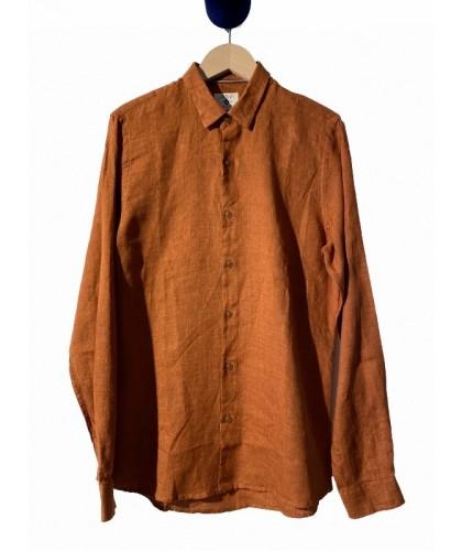 Terracotta Linen Shirt JAGVI