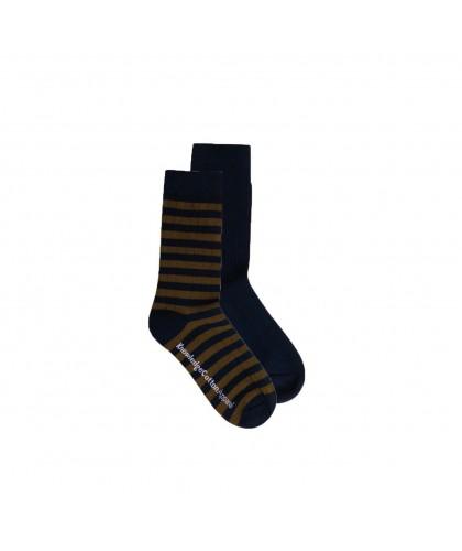 Navy / Striped Socks 2 pair...