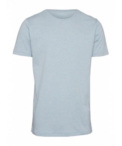 T-shirt bio bleu ciel chiné...