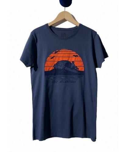 T-shirt bleu nuit Côte...