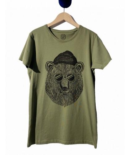 T-shirt vert Bear & Sun...