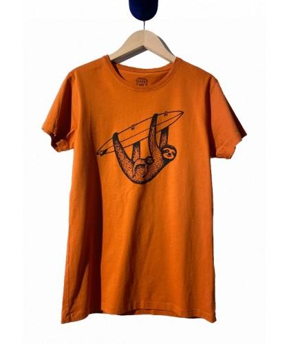 Orange Sloth & Surf Tee...
