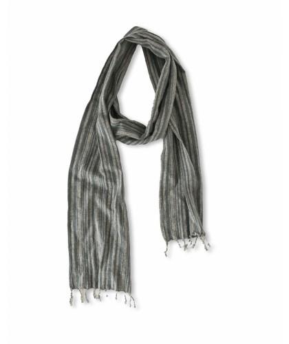 Foulard rayé coton lin...