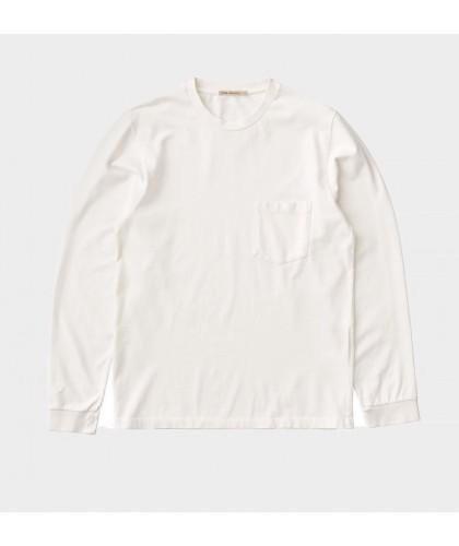 T-shirt ML à poche blanc...