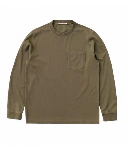 T-shirt ML à poche vert...