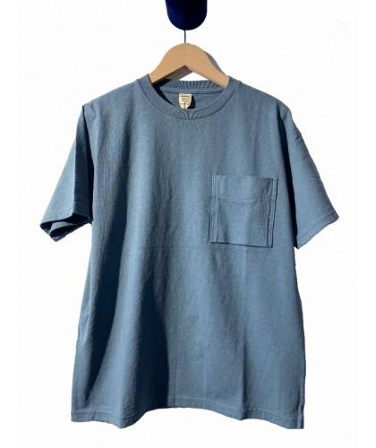 T-shirt à poche gris-bleu...